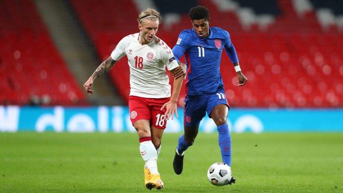 Inglaterra perdió con Dinamarca