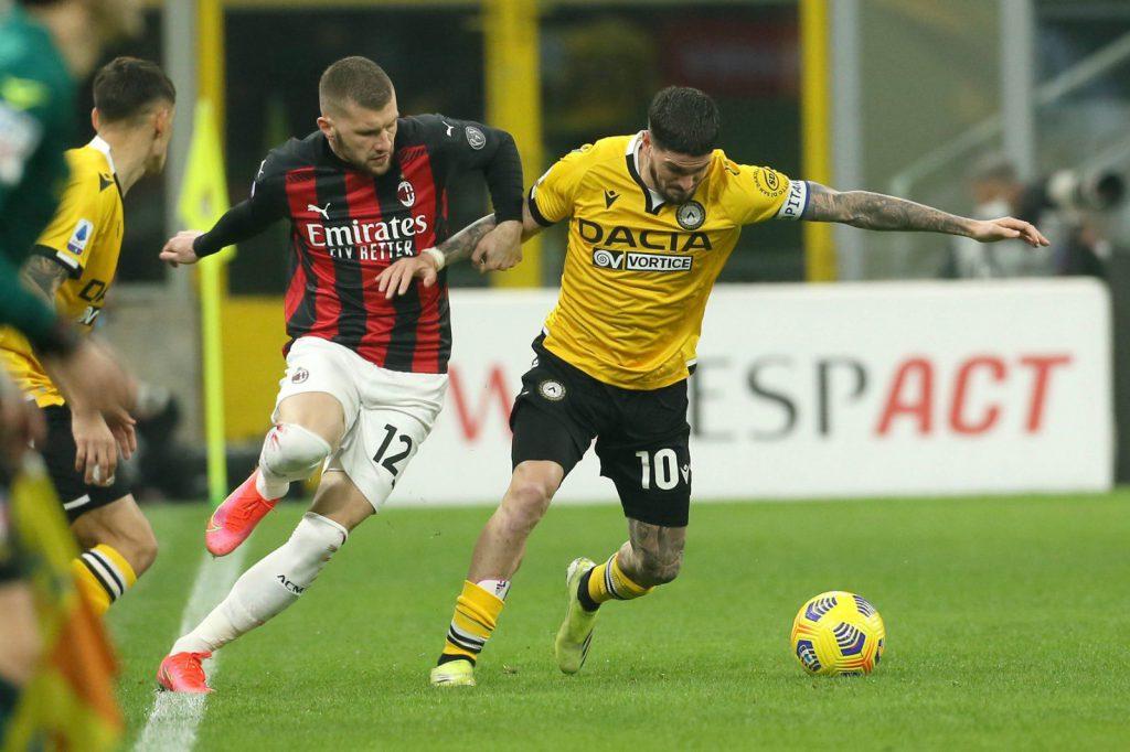 Milan empató con Udinese
