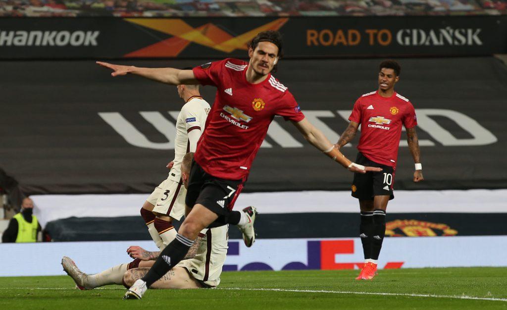 Manchester United goleó a Roma