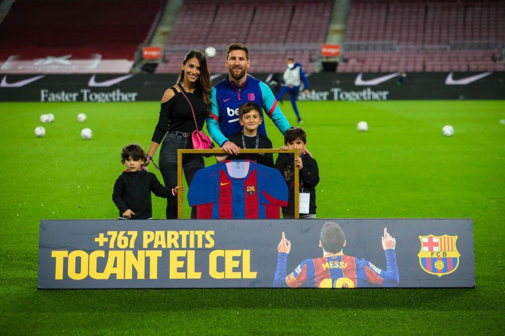 Homenajearon a Messi
