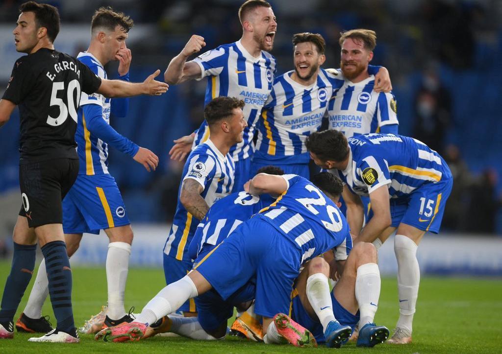 Brighton le ganó a Manchester City