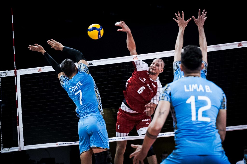 Argentina perdió con Polonia en la Volleyball Nations League
