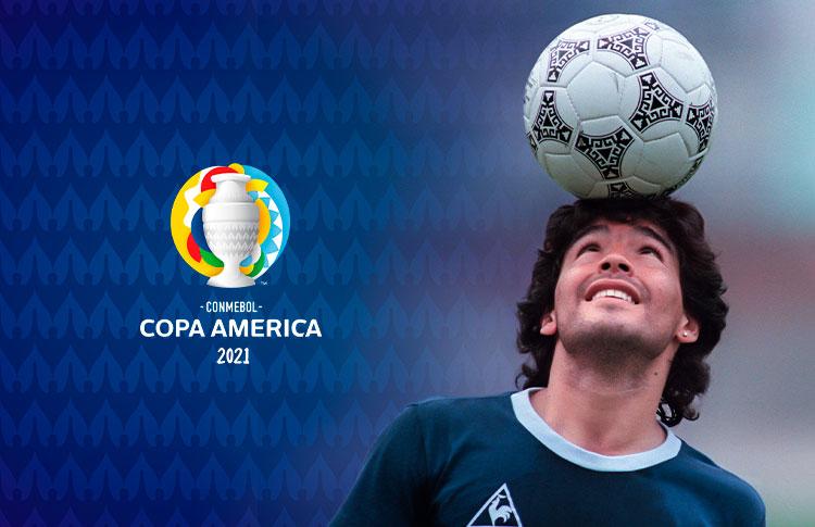 Homenaje a Maradona en la Copa América