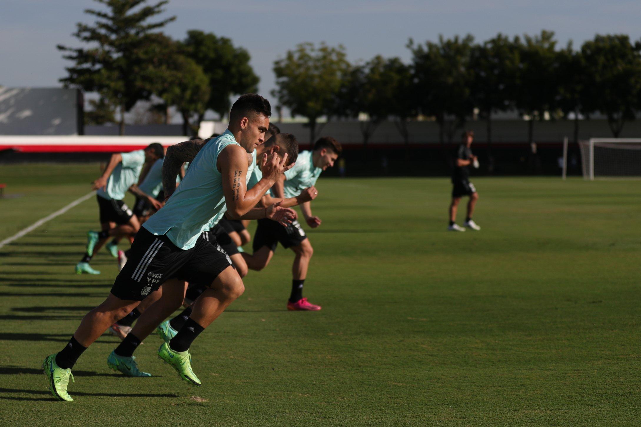 Argentina entrenó